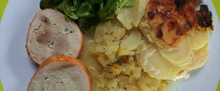 Rollbraten mit Kartoffelgratin