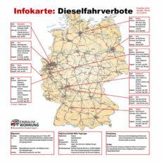 Infokarte Dieselfahrverbote