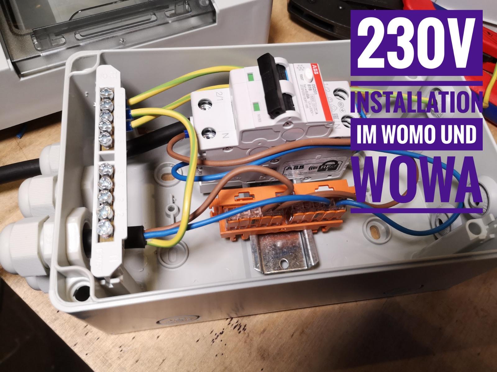 230v installation im wohnmobil und wohnwagen  inverter