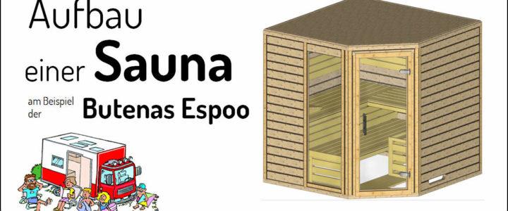 Ein tolles Projekt – Aufbau unserer Sauna